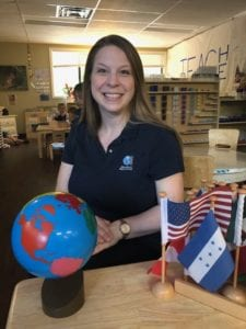 Montessori Kids Universe Homewood teacher Ms. Casey enjoys working with and teaching your children.